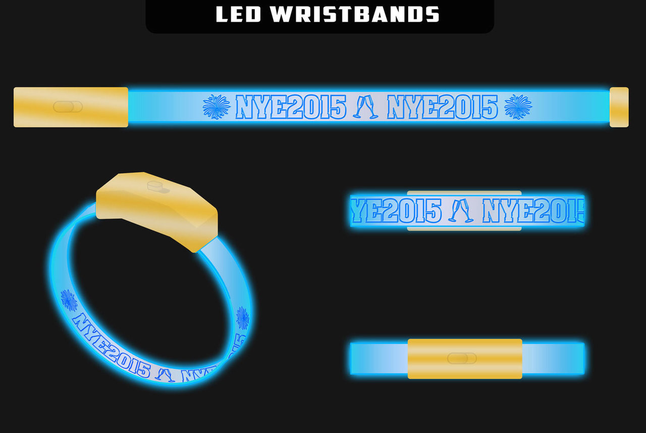 New Years, New Years Eve, Special, Black Friday, sale, LED, Custom, Wristband