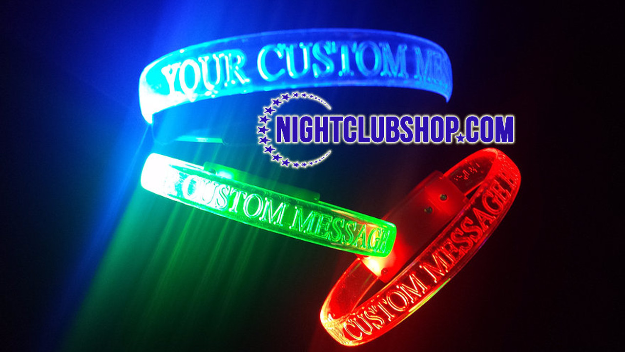 Personalized, Custom, customized, LED, Light up, Glow, Wristband, Bracelet