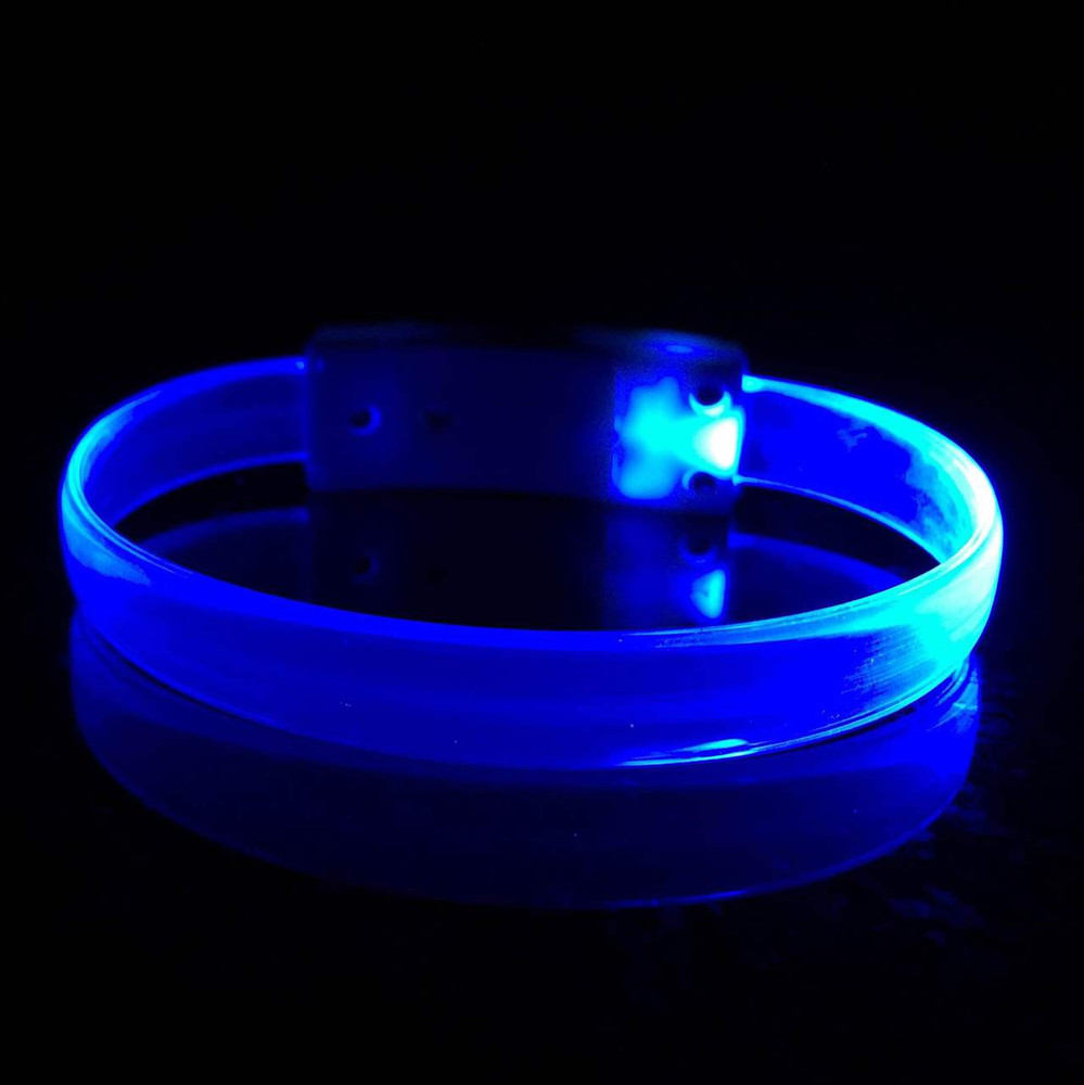 LED, Wristband, Glow, Bracelet, Light up, Silicon, LED Wristband, Nightclub,blue