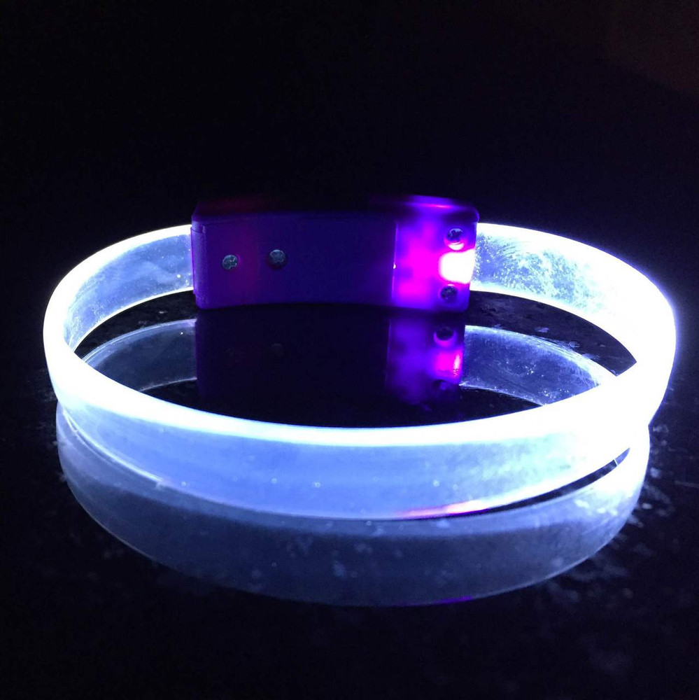 LED, Wristband, Glow, Bracelet, Light up, Silicon, LED Wristband, Nightclub,clear, white