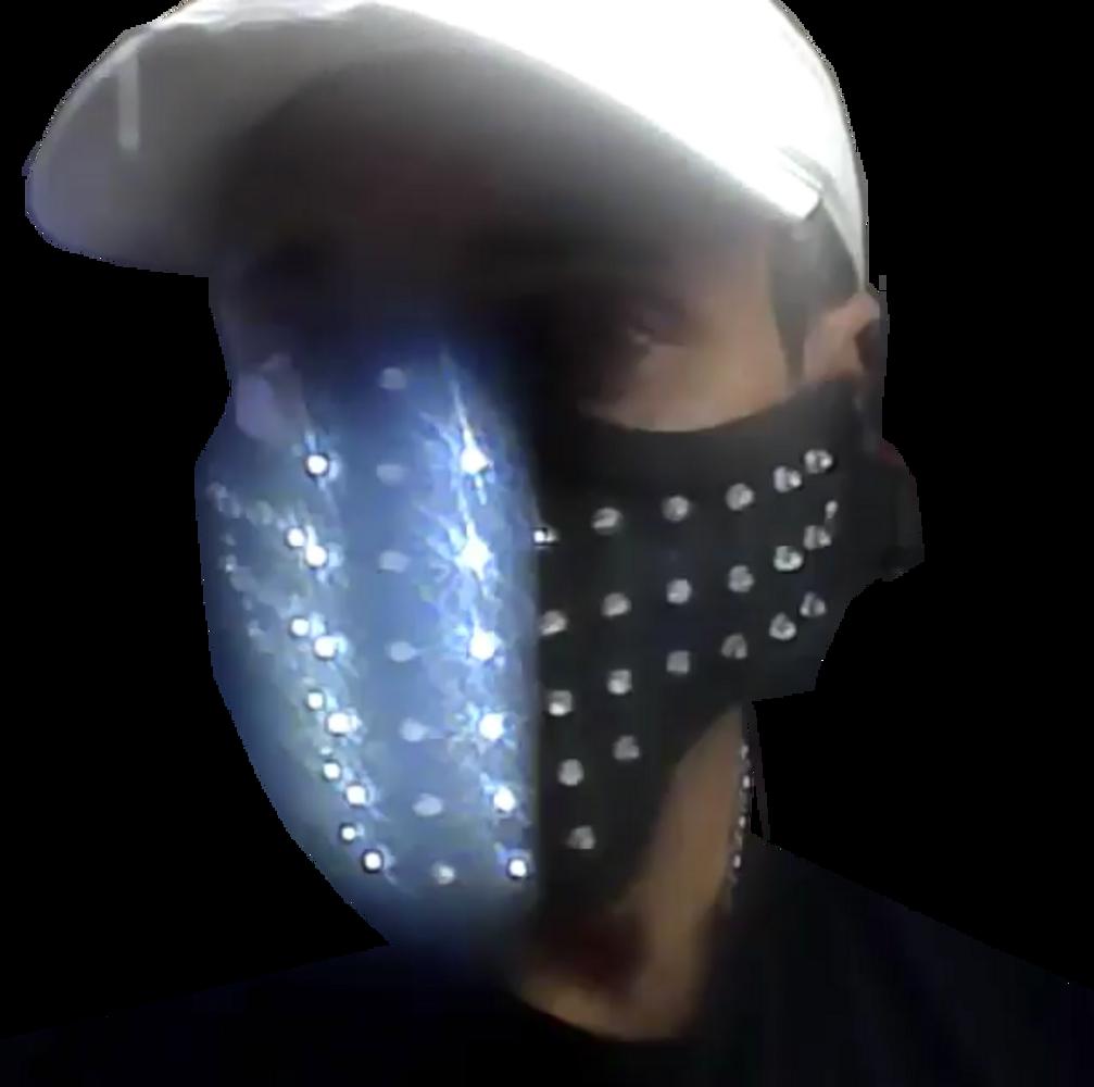 LED, Face, Mask, facemask,Dancer, DJ, Stage, Effect , Plur,, Glow mask, gas,EDMLuminous,illuminated,light up,