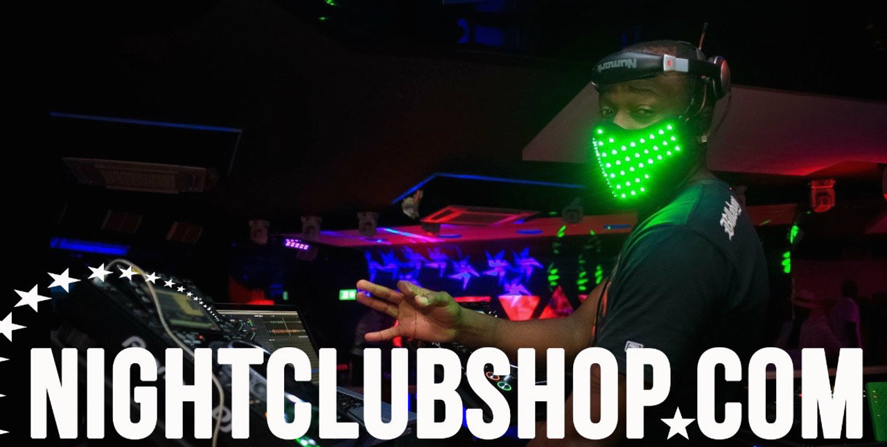 LED, Flashing, Face, Mask, LED Mask, LED ROBOT, FX, DJ, Dancer, Prop