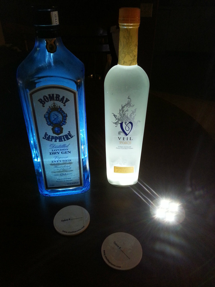 led, sticker, coaster, bottle, liquor,bottle service, vip, miami, Glowing bottle, nightclub, restaurant, wine list, supplies, supplier, sparkler, bottle light,Belvedere