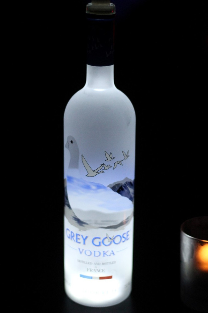 Grey Goose, Lit, Light, Light up, Bottle, Stick, on, sticky, coaster, glorifier, glowing
