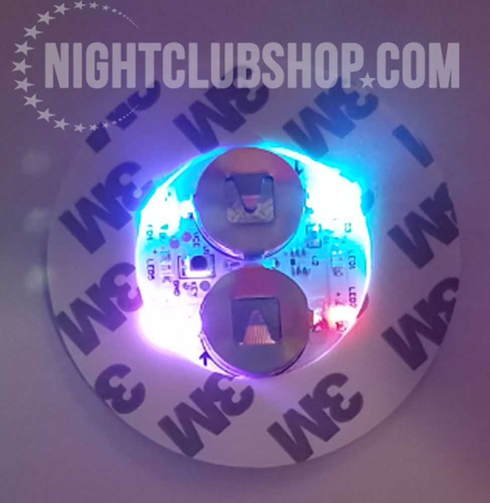 LED,Stick on, Bottle, Glow, Light pad, Sticker,Coaster, Glorifier,coaster, bar bulk, bar, bulk, LED Glow, Light up, Champagne, Liquor, bottles, Bottle Service, Mini-glow glorifier, illuminted, multi-color, RGB, multi color, Multi-LED