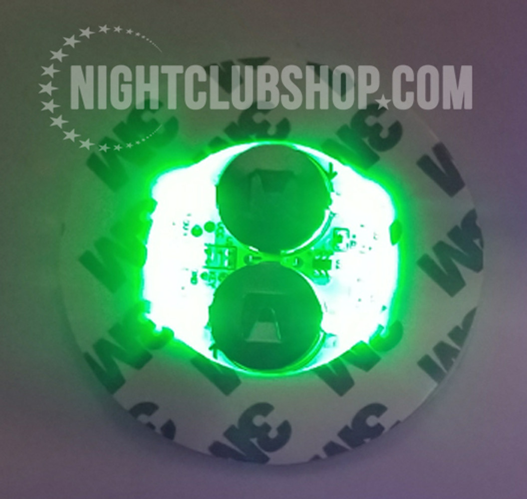 LED,Stick on, Bottle, Glow, Light pad, Sticker,Coaster, Glorifier,coaster, bar bulk, bar, bulk, LED Glow, Light up, Champagne, Liquor, bottles, Bottle Service, Mini-glow glorifier, illuminted,Green,LED green, green Glow