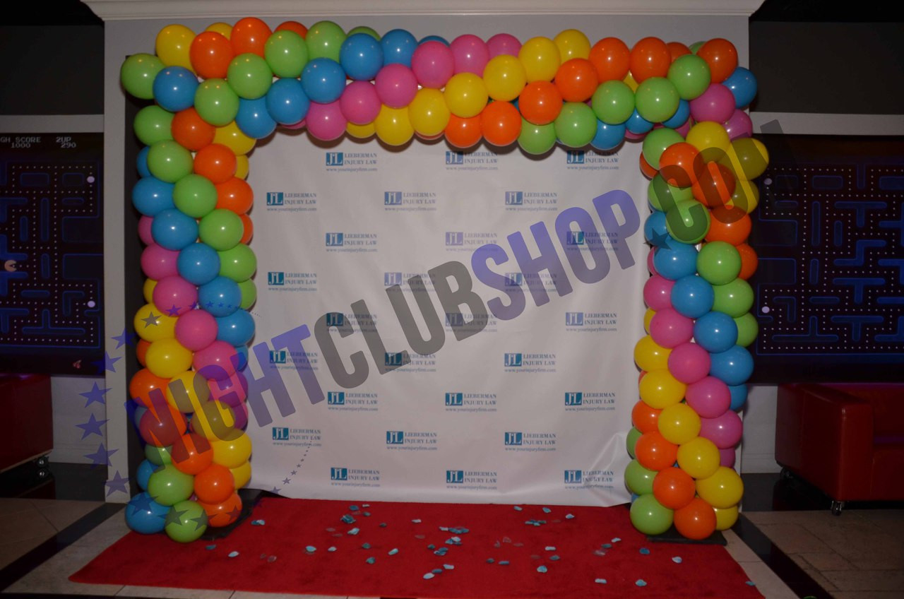 10' X 10' STEP & REPEAT BACK DROP NO GLARE MATTE BIRTHDAY SWEET 16