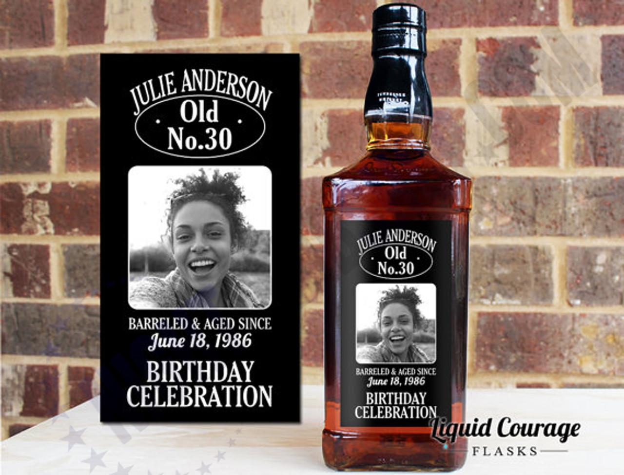 CUSTOM LIQUOR LABEL DECOR BIRTHDAY