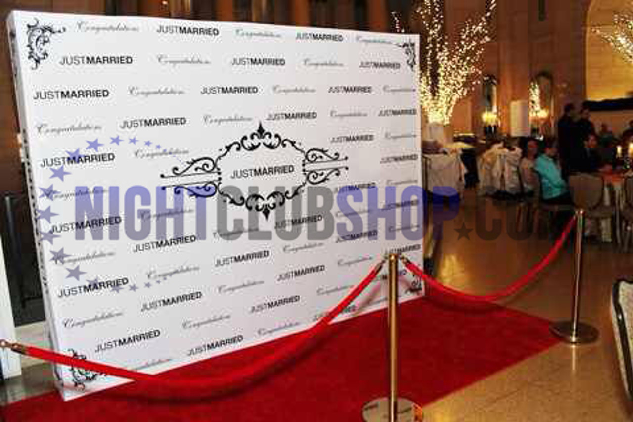 10' X 10' STEP & REPEAT BACK DROP NO GLARE MATTE