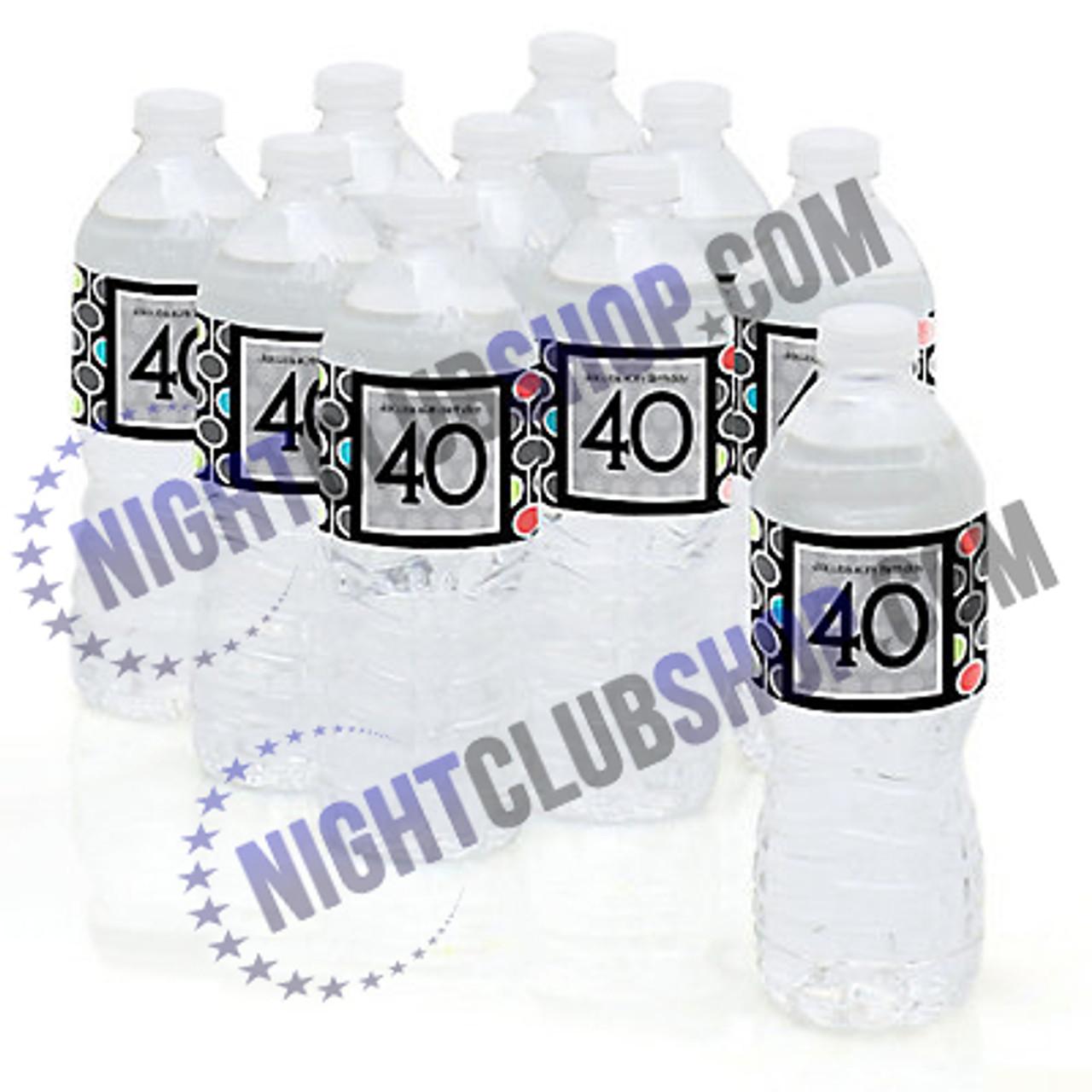 "CUSTOM WATER BOTTLE SELF ADHESIVE LABELS 1.25"" x 8.5"""