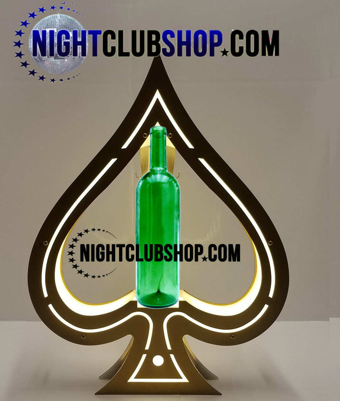 Spadilla, Ace,Spade,LED,Tray,Caddie,Presenter,Ace of Spades,Presentation, champagne, Liquor, carruer