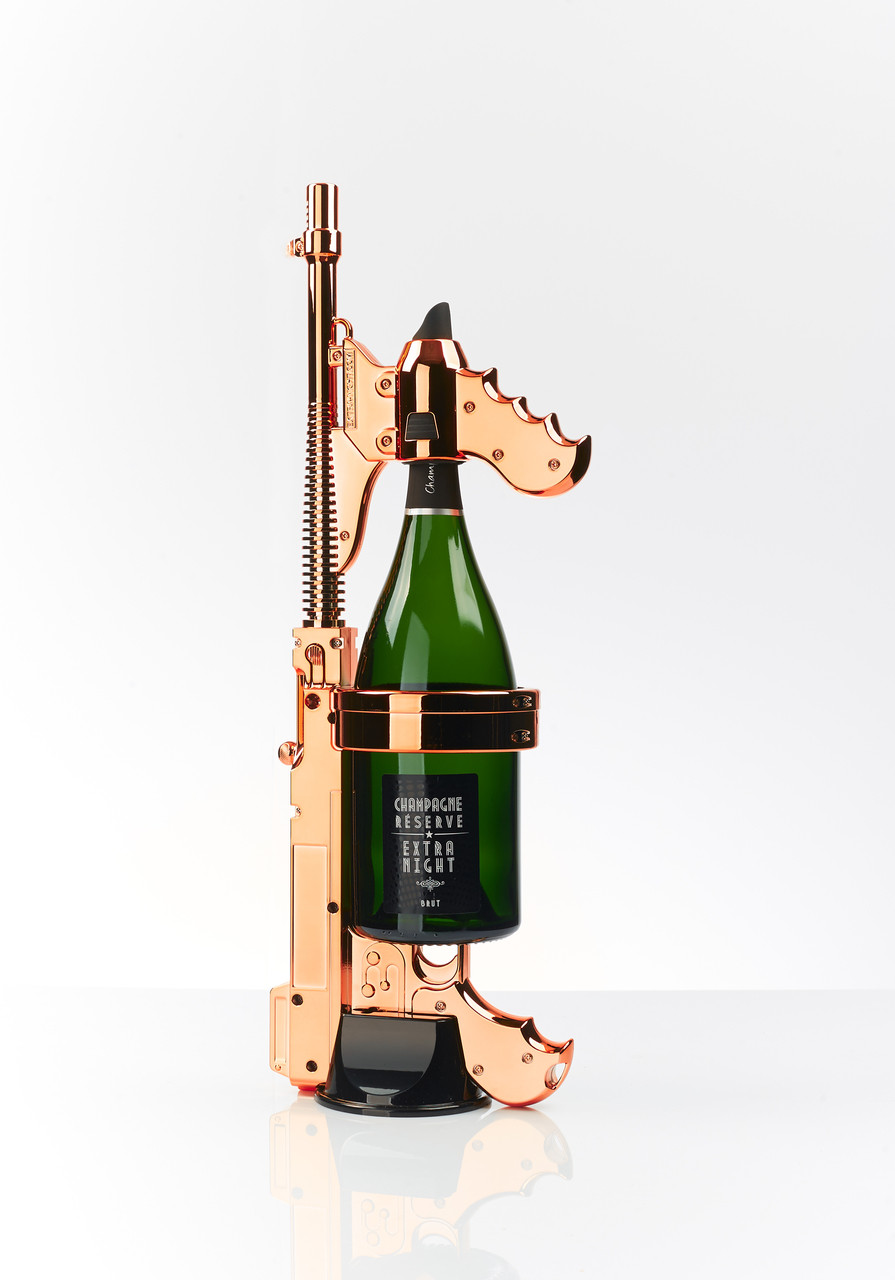 THE CHAMPAGNE GUN - Make it Rain Champagne Machine Gun