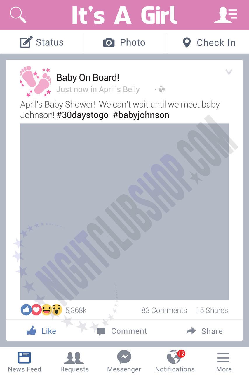 BABY SHOWER BOARD PHOTO BOARD FRAME