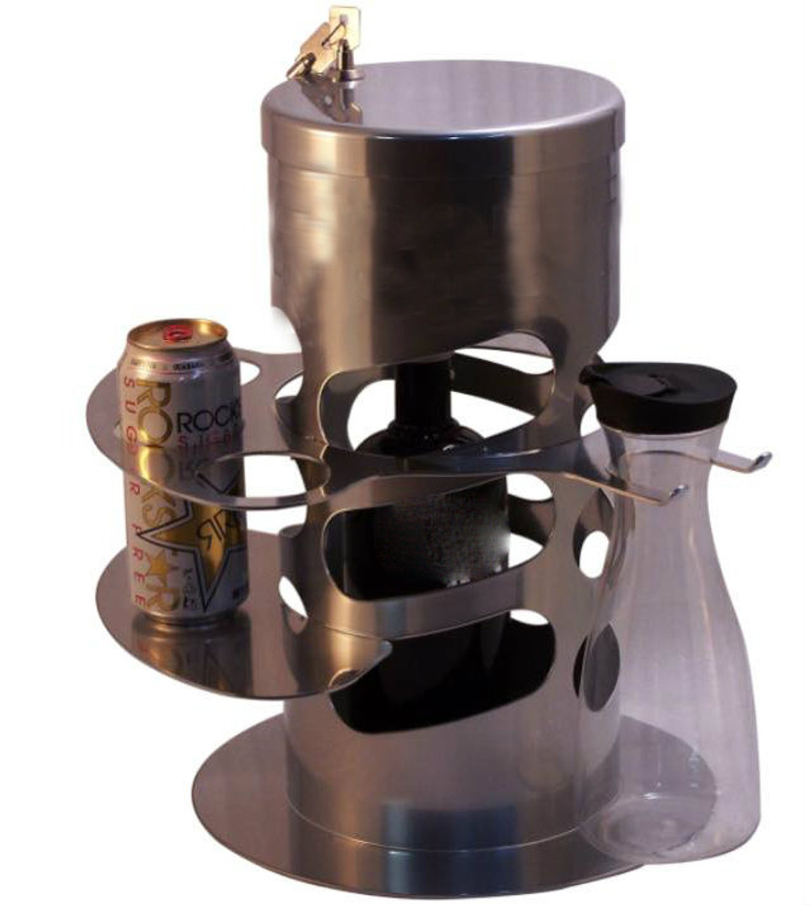 Bottle-Locking-Lock-cage-Bottle service-Delivery-Table-security