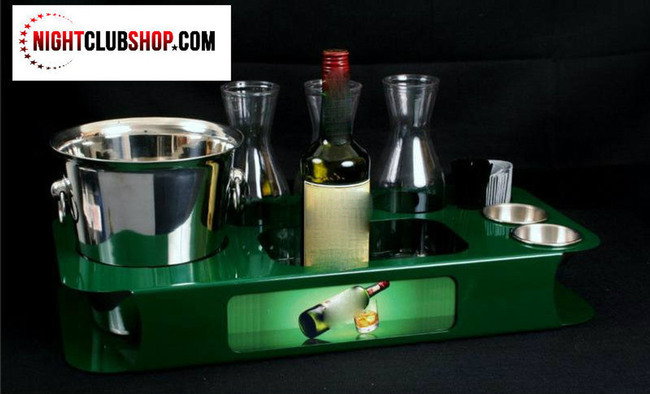 green, name, changer, bottle service, tray, vip, custom, nightclub, club, bar, delivery, caddie, champagne, bottle