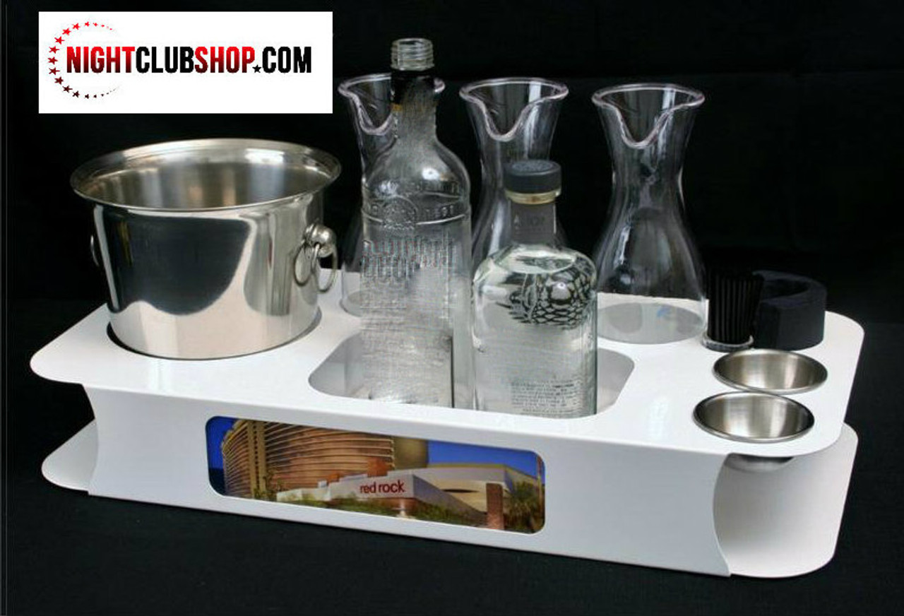 white, name, changer, bottle service, tray, vip, custom, nightclub, club, bar, delivery, caddie, champagne, bottle