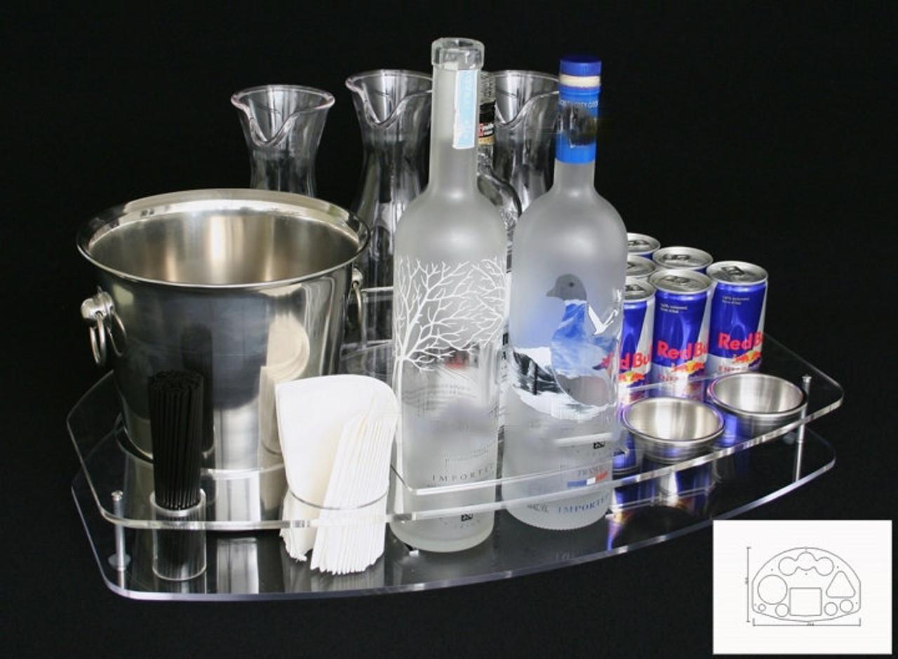 bottle, serving, tray, deluxe, vip, serving, bottle service, delivery, presentation, club, nightclub, bar, lounge, premium, dual, bottle, caddie