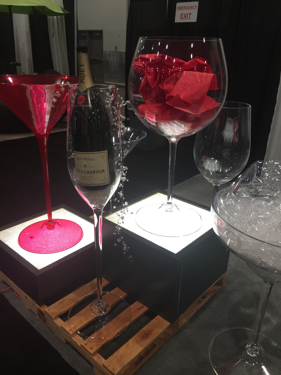 HUGE DRINK CUPS - MARTINI CUP &  WINE GLASS