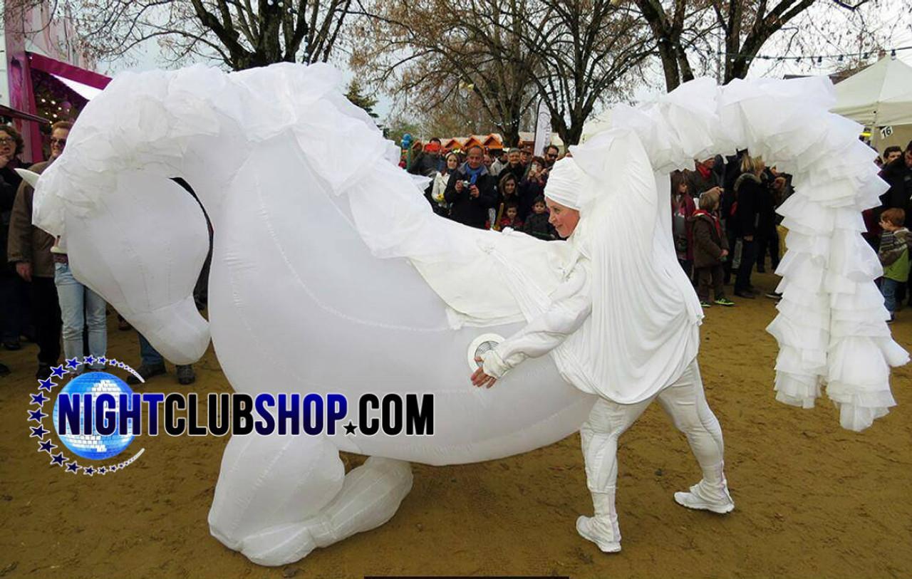 Inflatable Led Horse Costume Illuminated 10 Foot Size Jumbo Led Horse