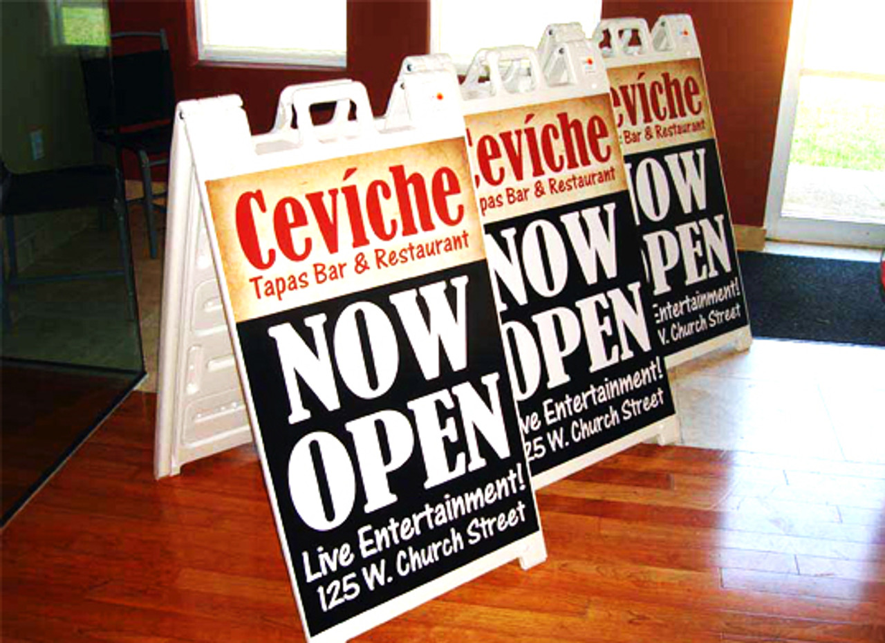 Signicade,sign,signage,Plastic,marketing,Outdoor,sidewalk,A Frame, folding, collapsible,foamcore,print,custom,personalize,print
