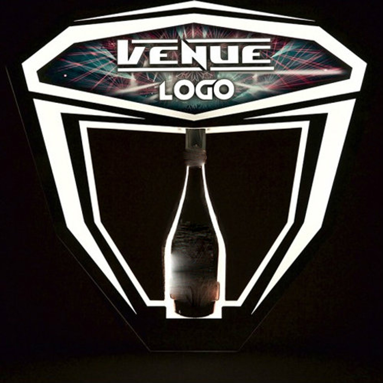 Venue,Custom,Logo,Name,Art,Bottle,Service,Champagne,Delivery,VIP,LED,Tray,Custom made,personalized,name,club,venue,presenter