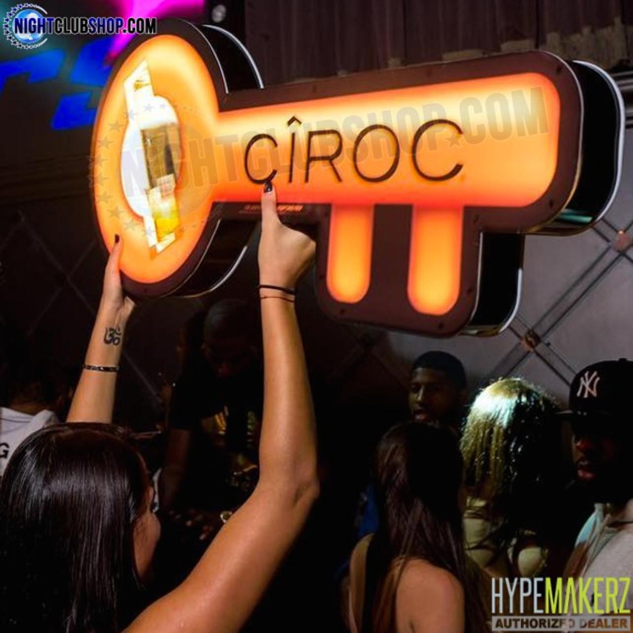 Ciroc, LED, Bottle, Presenter, Liquor, Holder, VIP, Service, Delivery, Huge, Enormous, Gigantic, Key, Nightclub, Nightlife,