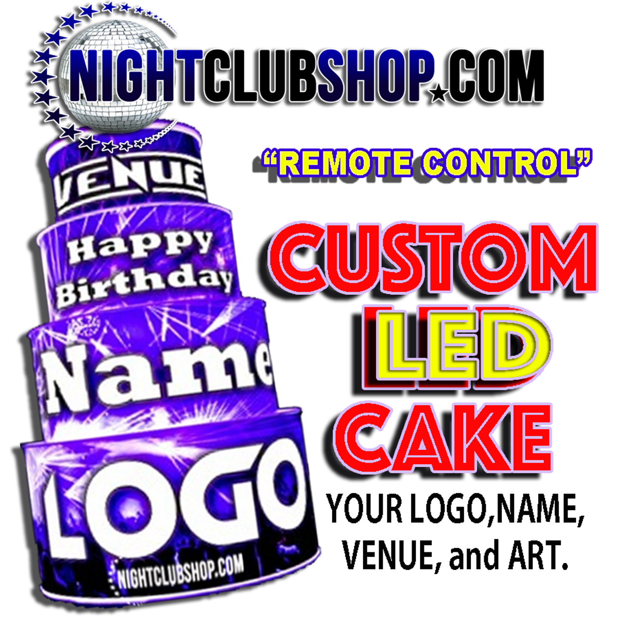 LED, Birthday, Cake, LEDCake, LED Cake, Light up, illuminated,custom