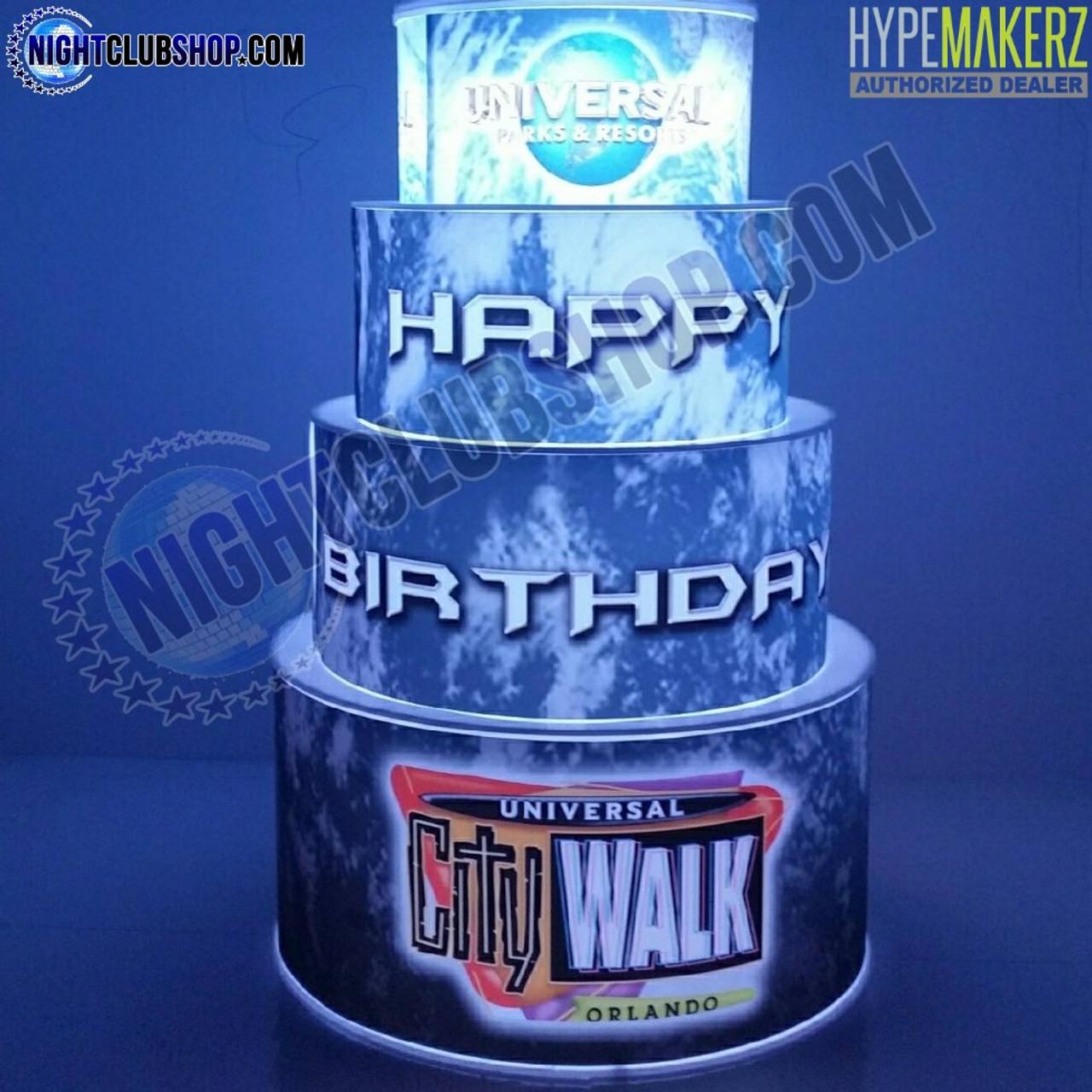 Happy, Birthday, LED, Cake, City, Walk, Universal, Studios, Celebration, RGB, Remote, Controlled, RF, Wireless