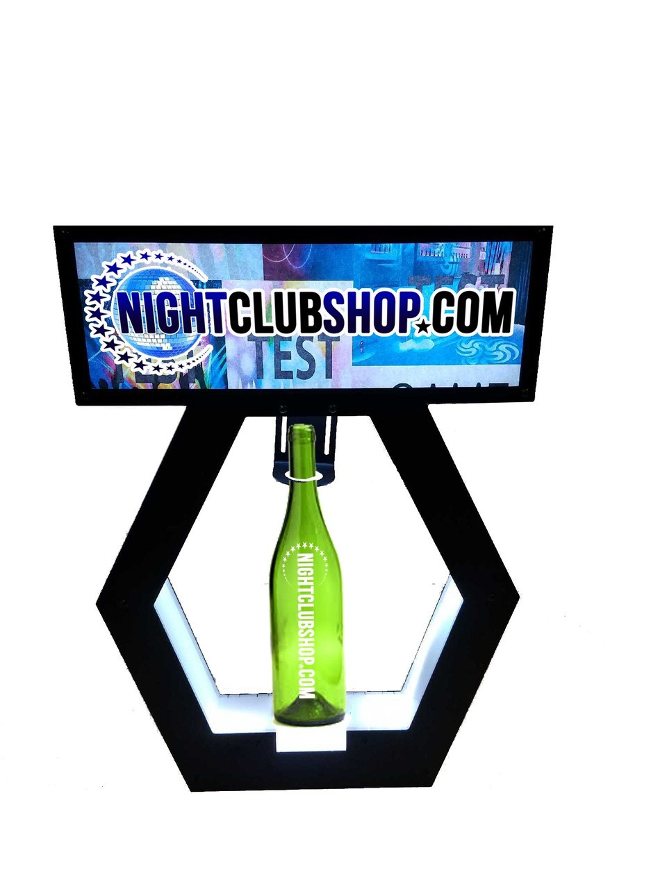 UNIVERSAL-BANNER TOP-PRESENTER-NAME-CHANGER- VIP-SIGN-LED-Light up-CHAMPAGNE-BOTTLE-SERVICE-DELIVERY-PRESENTATION-TRAY