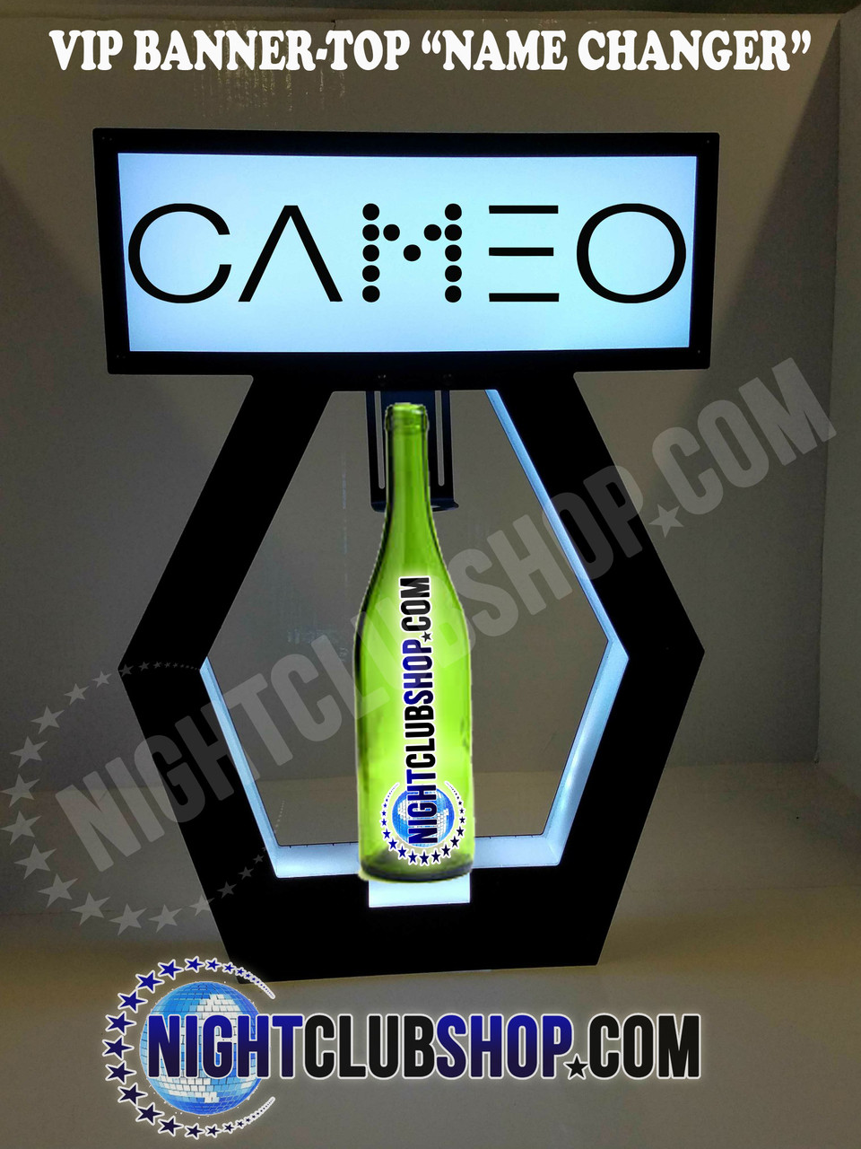 Nightclub_VIP_Lightbox_Champagne_Liquor_Tray_interchangeable_Bottle_service_carrier_holder_tray_Presenter_caddie_caddy_Banner_Top_LED_Sign