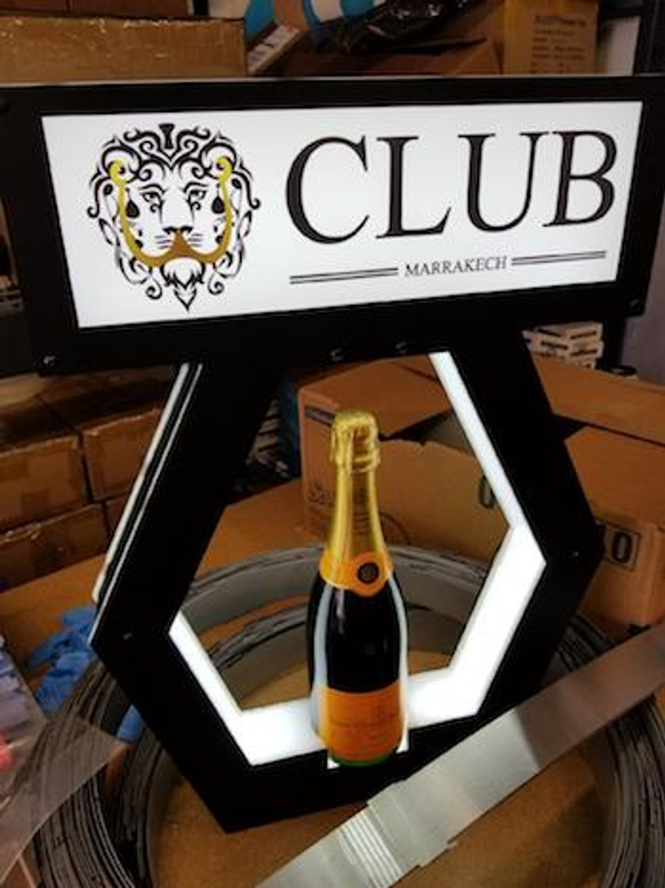 "UNIVERSAL ""VIP BANNER TOP"" PRESENTER ""NAME CHANGER - LETTER BOX"" VIP CHAMPAGNE BOTTLE SERVICE DELIVERY PRESENTATION TRAY"