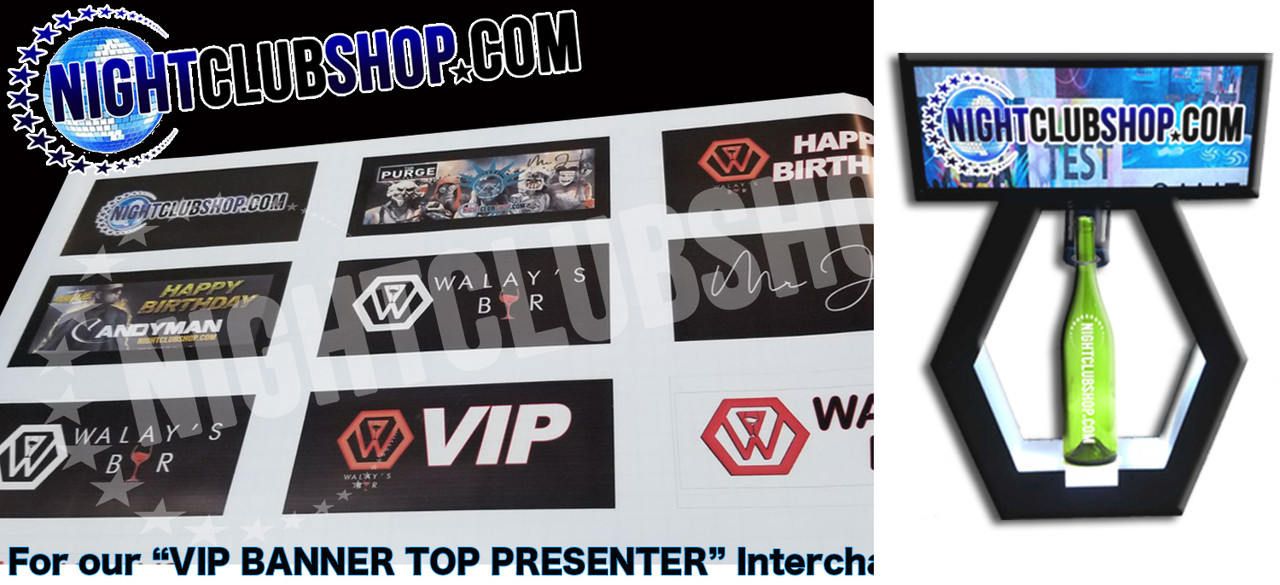 VIP_Banner_top_interchangeable_Tray_Lightbox_Light up_Print_Banner Top_Bottle Service_tray_Presenter_nightclubshop_2