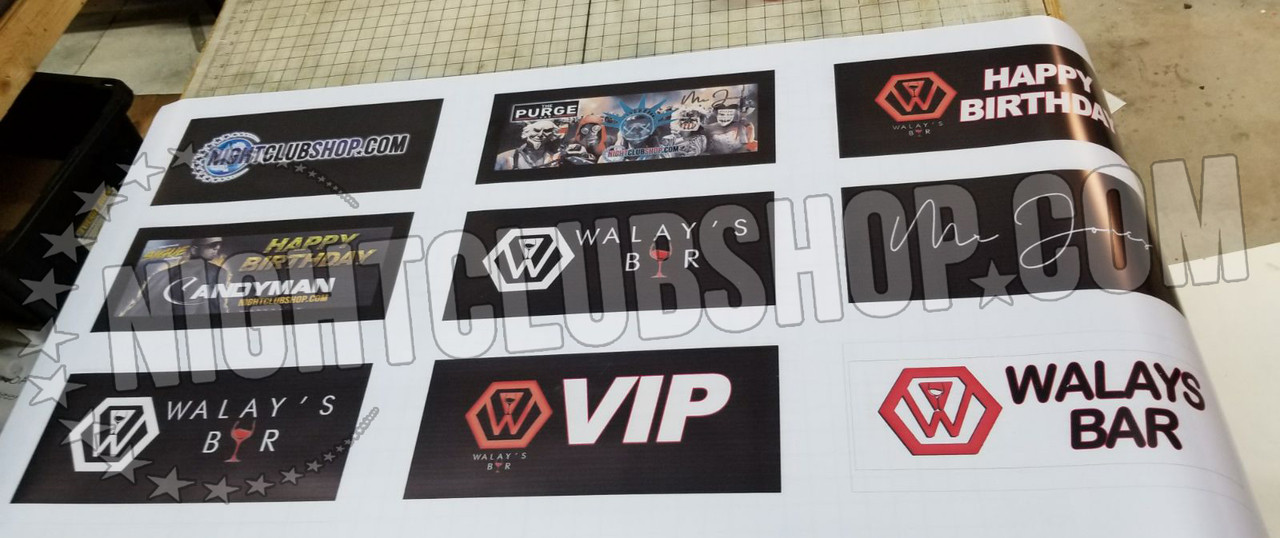 Print,reprint,VIP,Banner,Top,interchangeable,Tray,Lightbox,Light up,Print,Banner Top,Bottle Service,tray,Presenter,change, display,shield,nightclubshop