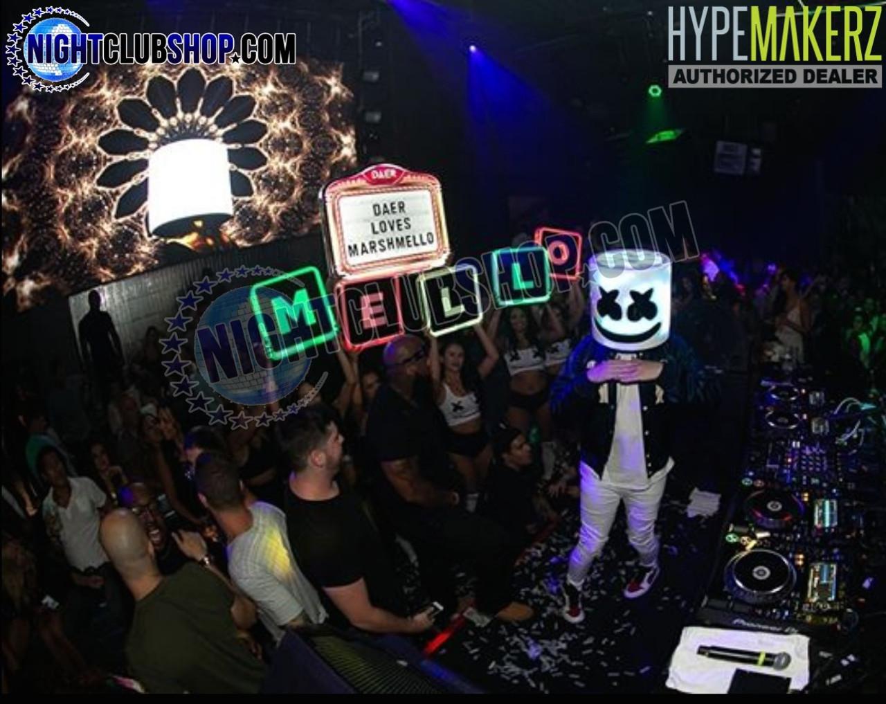 Marshmellow, Letter, Box, Shields, Interchangeable, Party, Celebration, LED, RGB, Remote, controlled, Mello