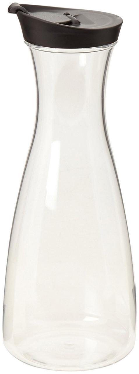 1 Liter Carafe with Black Lidcaraf, carafe,carafet, juice,container,lid,twist,plastic,mold injected,strong,1 Liter Carafe with Black Lid