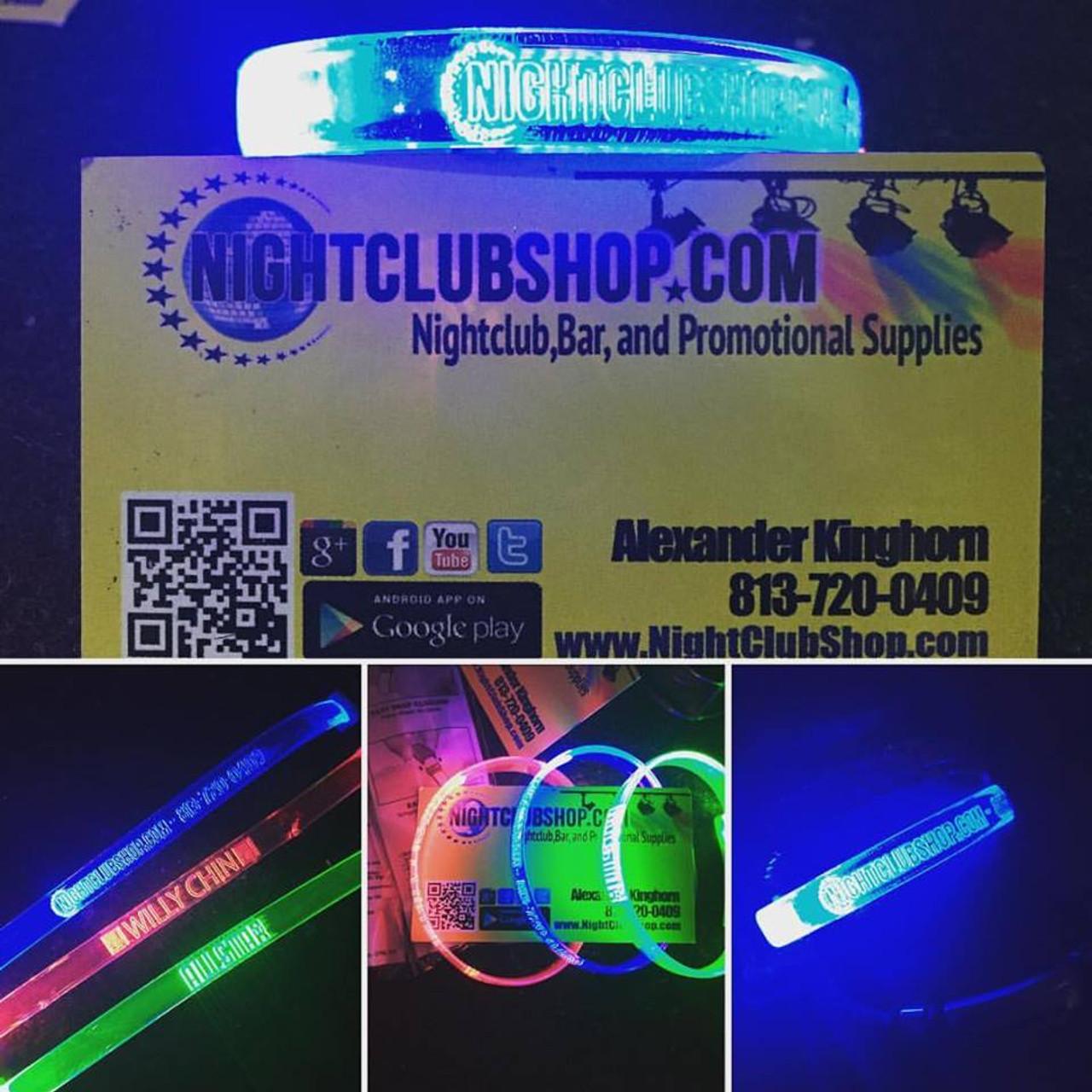 flashing, 3 mode, 3 function, LED,Custom, Print,Engraved,Wristband,Branded, Merch, promo, VIP,bracelet