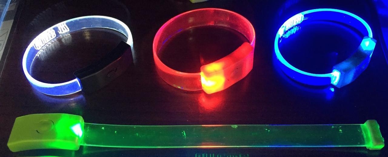 Blank, LED Wristband,Light up,optical, LED,wrist band, bracelet, promo