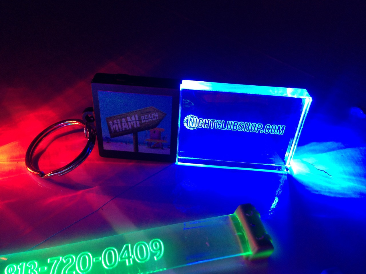 Nightclubshop,LED,Keychain,Key,chain,LED keychain, custom, BEAM, dual, print,engraved, logo,text, laser engraved,personalized,promo,merch,fundraiser,nightclub,fund raiser