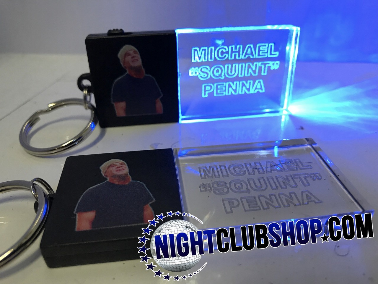 DUO-BEAM LED KEY CHAIN - Light Up Optical Engraved Keychain, Dual Customized Full Color Print and Laser Engraved Promo