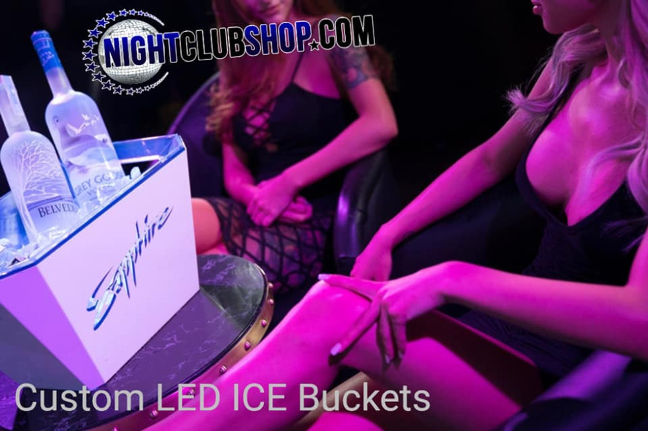 Gentlemans, club, ice bucket, LED ice bucket, DMX, DMX)))R, Remote Glow