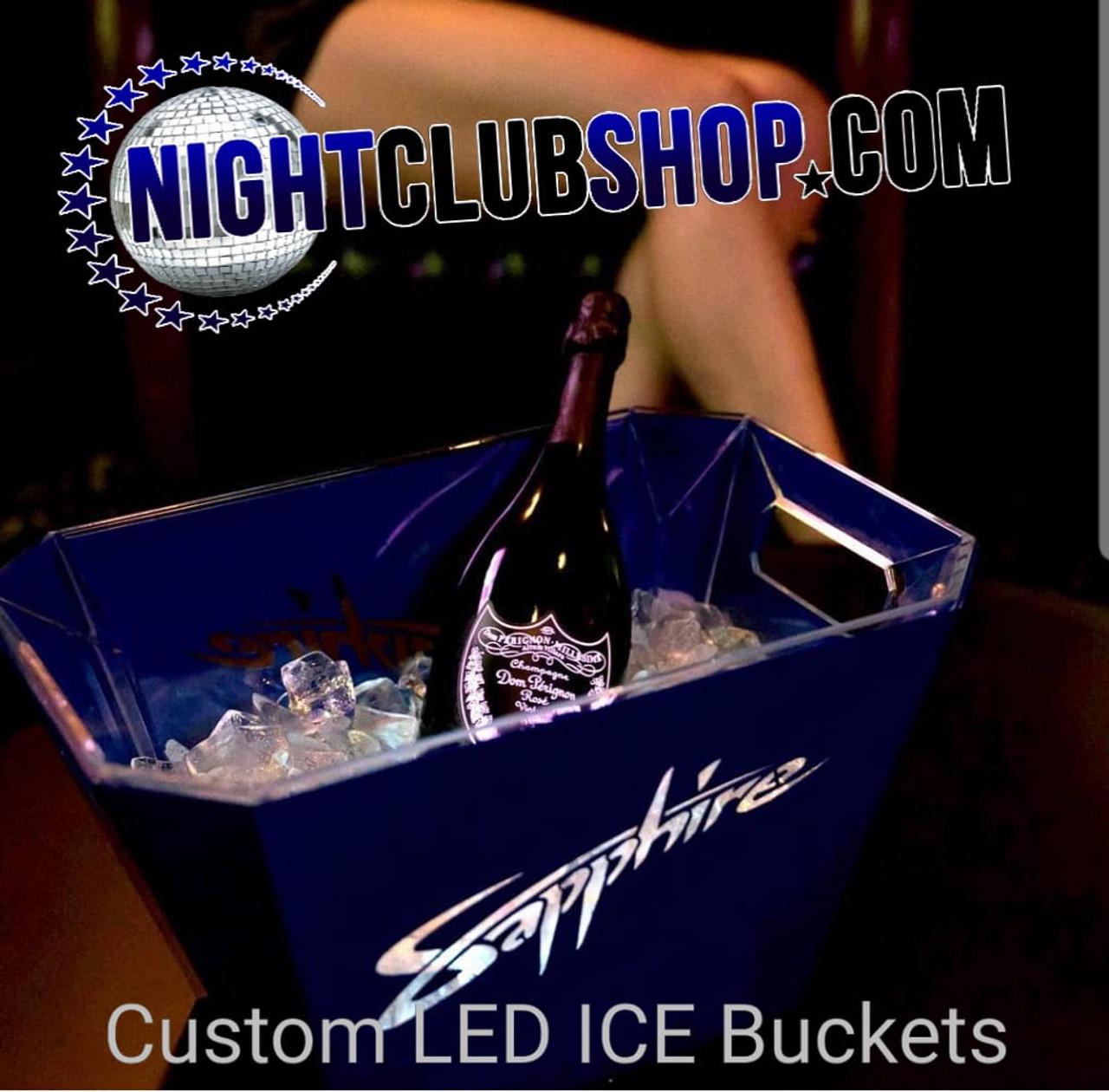 Ice Bucket, branded, logo, laser cut, custom, bottle service , presentation, Nightclubshop
