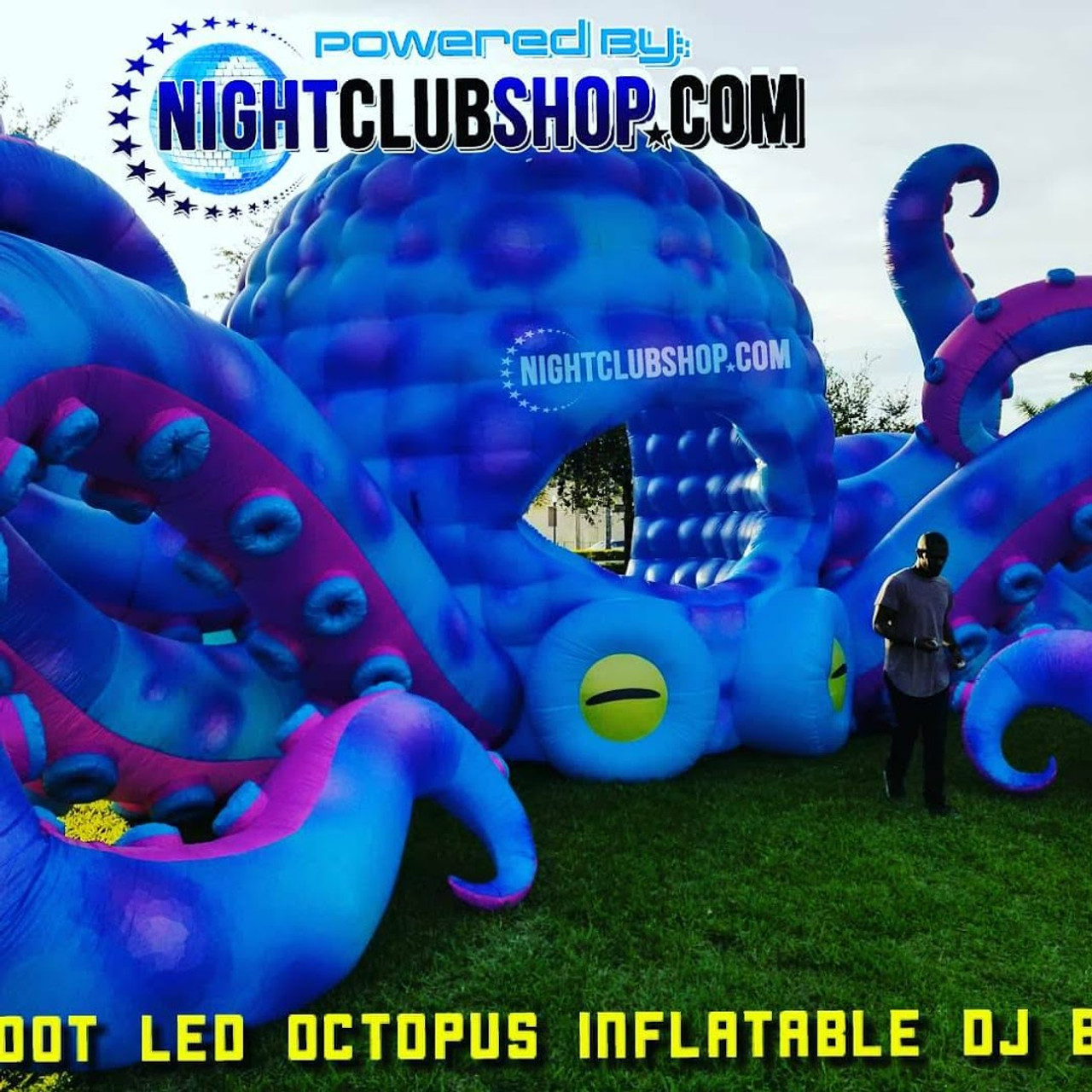 53',33' foot, cabin, festival, djbooth,LED, inflatable,giant,octopus,blow up,stage , prop, dj,booth, PartyPus