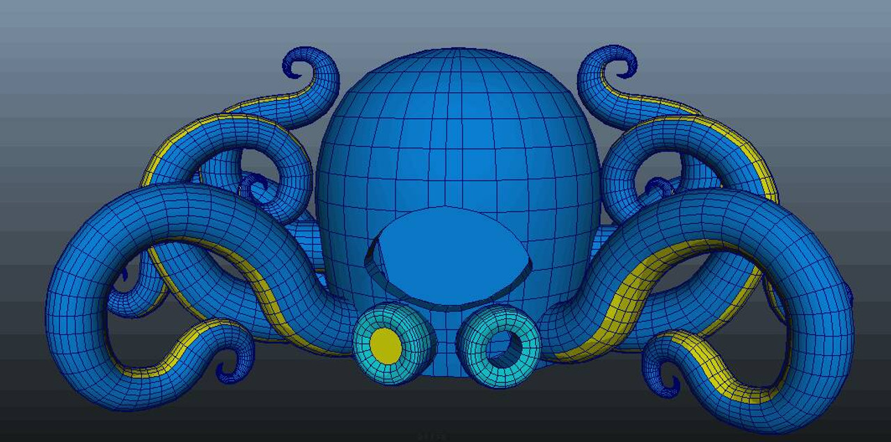 """Inflatable """"LED Octopus"""" DJ Booth - 53' Foot"""