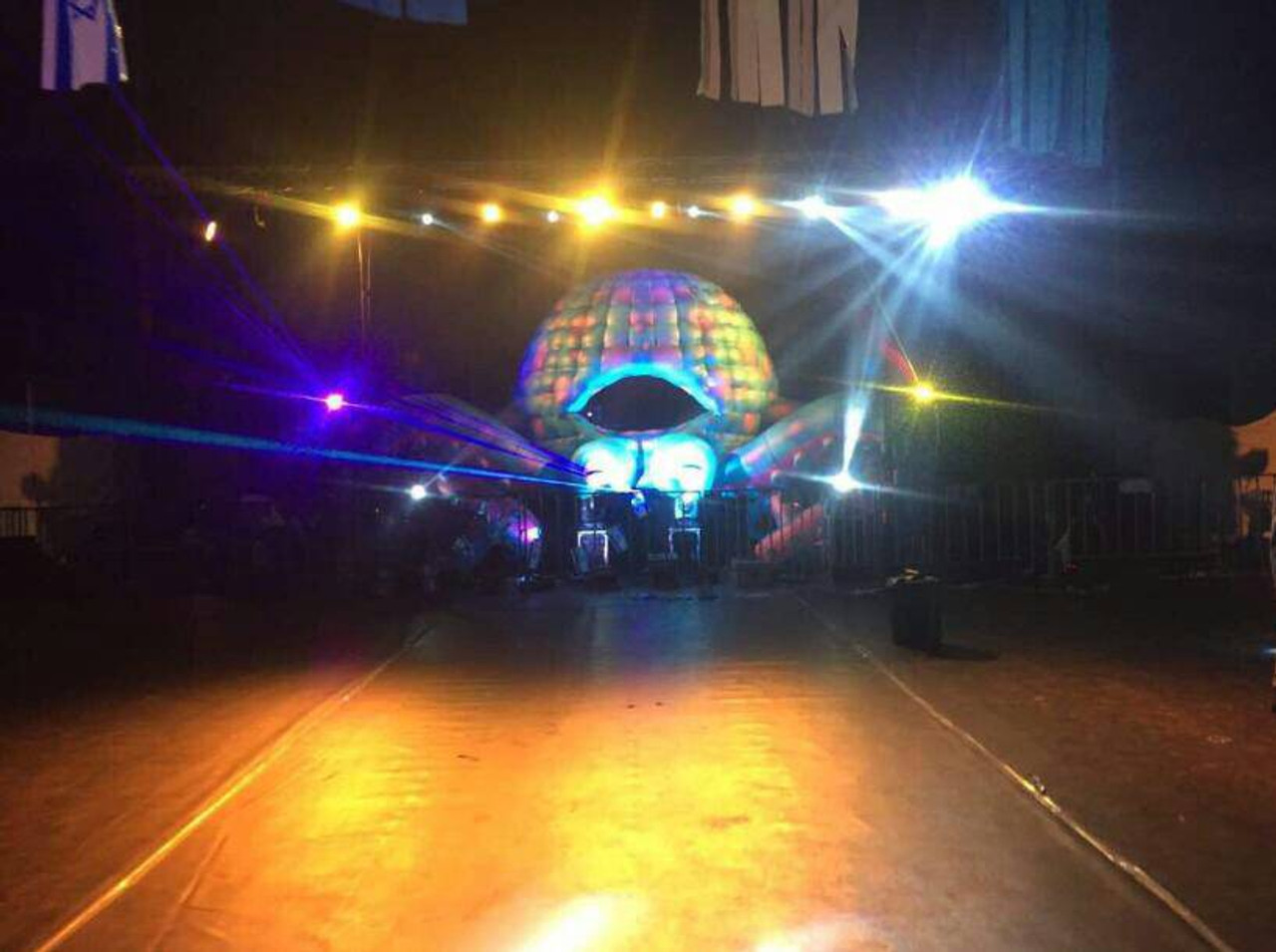 """Inflatable """"LED Octopus"""" DJ Booth - 33' Foot"""
