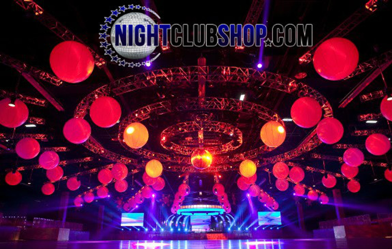 INFLATABLE, INFLATEABLE, BLOW UP, BALLOON, CIRCULAR, ROUND, SPHERE, BALL, LED, ILLUMINATED, REMOTE, HANGING