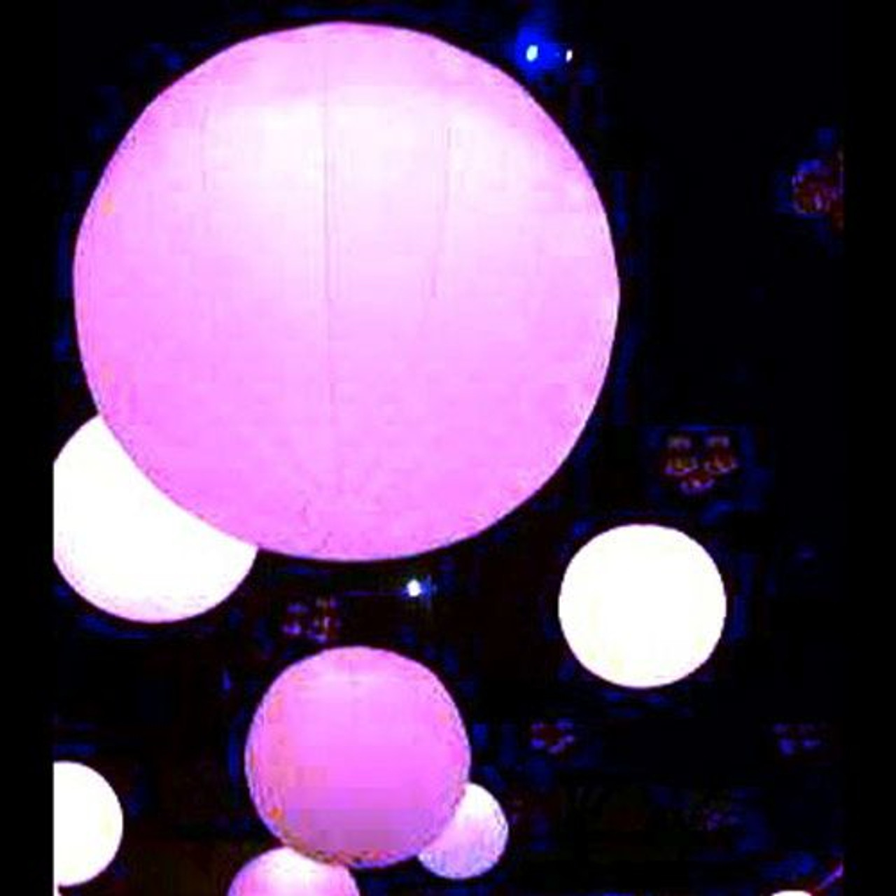 NIGHTCLUB, DECOR,INFLATABLE, INFLATEABLE, BLOW UP, BALLOON, CIRCULAR, ROUND, SPHERE, BALL, LED, ILLUMINATED, REMOTE, HANGING