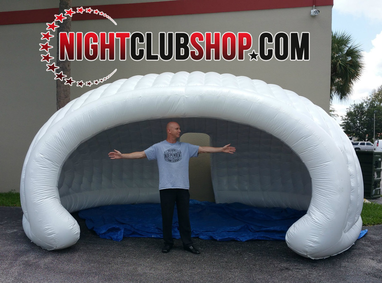LED_DJ_BAR_VIP_BOOTH_Inflatable_Tent_Clam Shell_Cabana_white