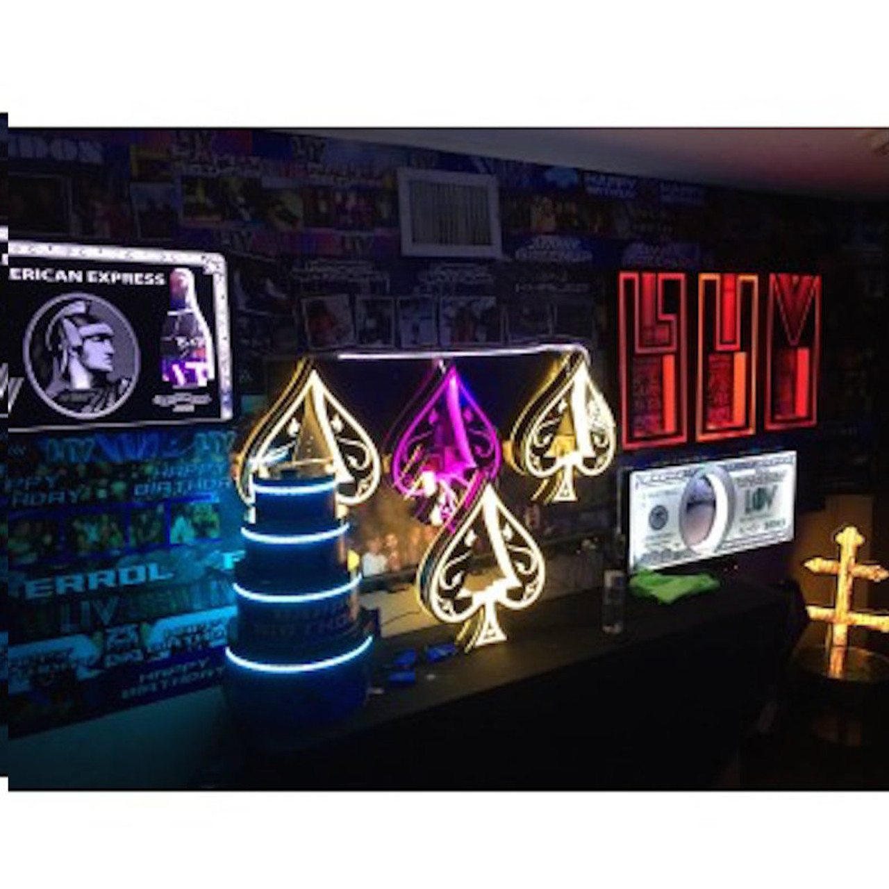 Royale_Champagne_Bottle_service_delivery_presenter_carrier_holder_caddy_tray_Custom_Made_Light Up_LED_LIV_Miami_Nightclubshop_caddie
