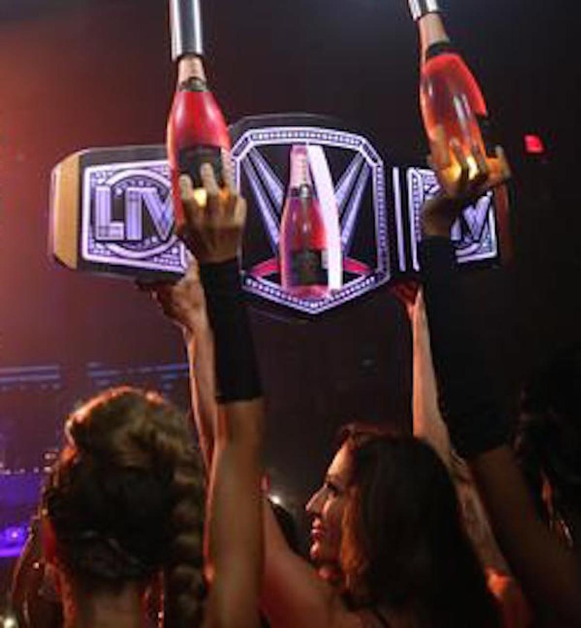 LIV, Bottle,Bottle Wars, VIP, LED, Championship,Title,Belt,Bottle,Service,Presenter