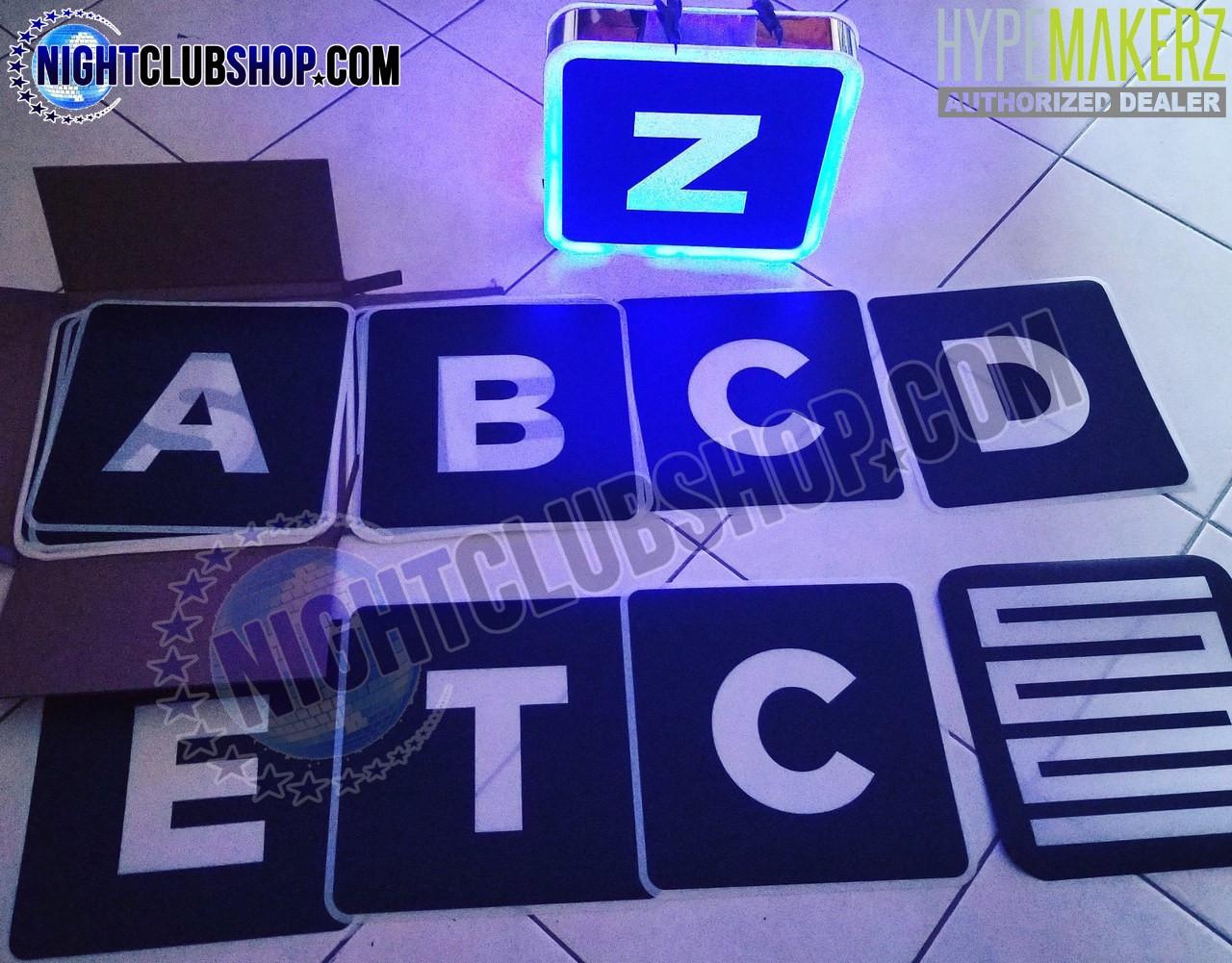 LED, Interchangeable, Letter, Box, Shields, Custom, Customizable, Bottle, Service, Presenter